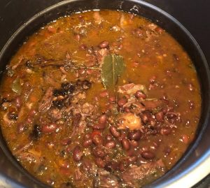 Oxtail with Black Beans and Bay Leaf in an Instant Pot; Recipe for Single Ingredient Groceries.