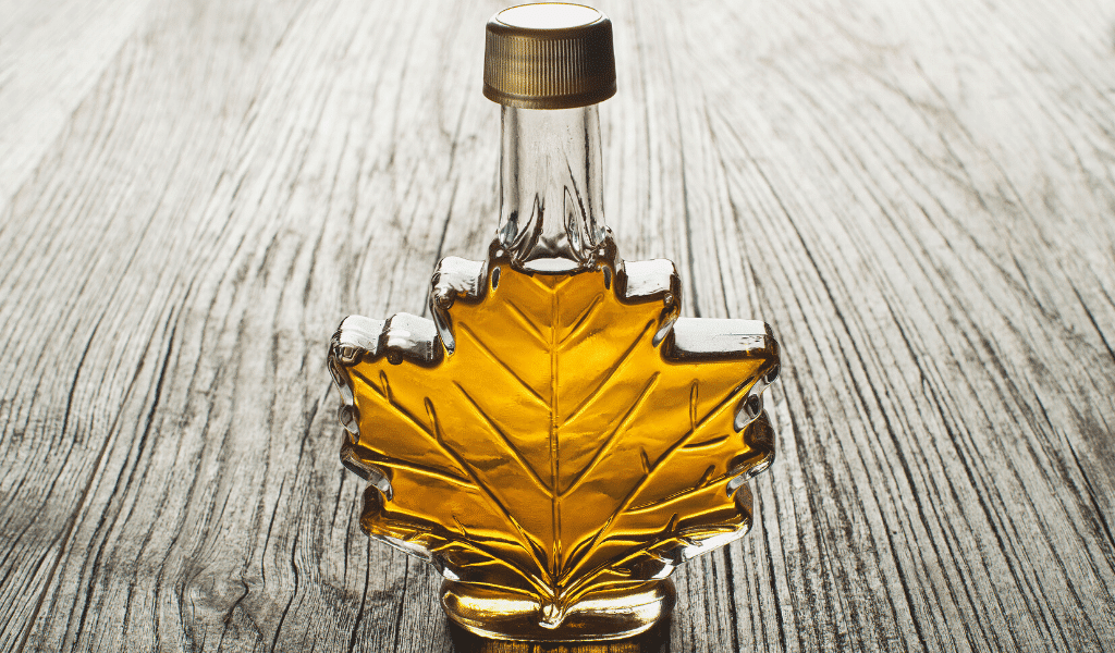 maple syrup in a jar