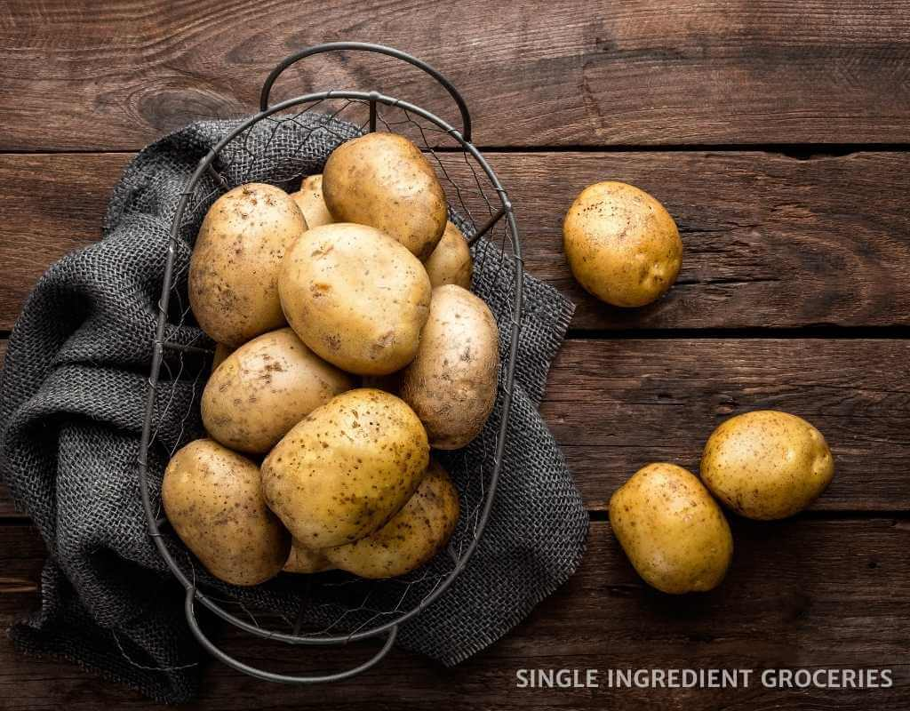 potatoes in a basket, nightshade allergy