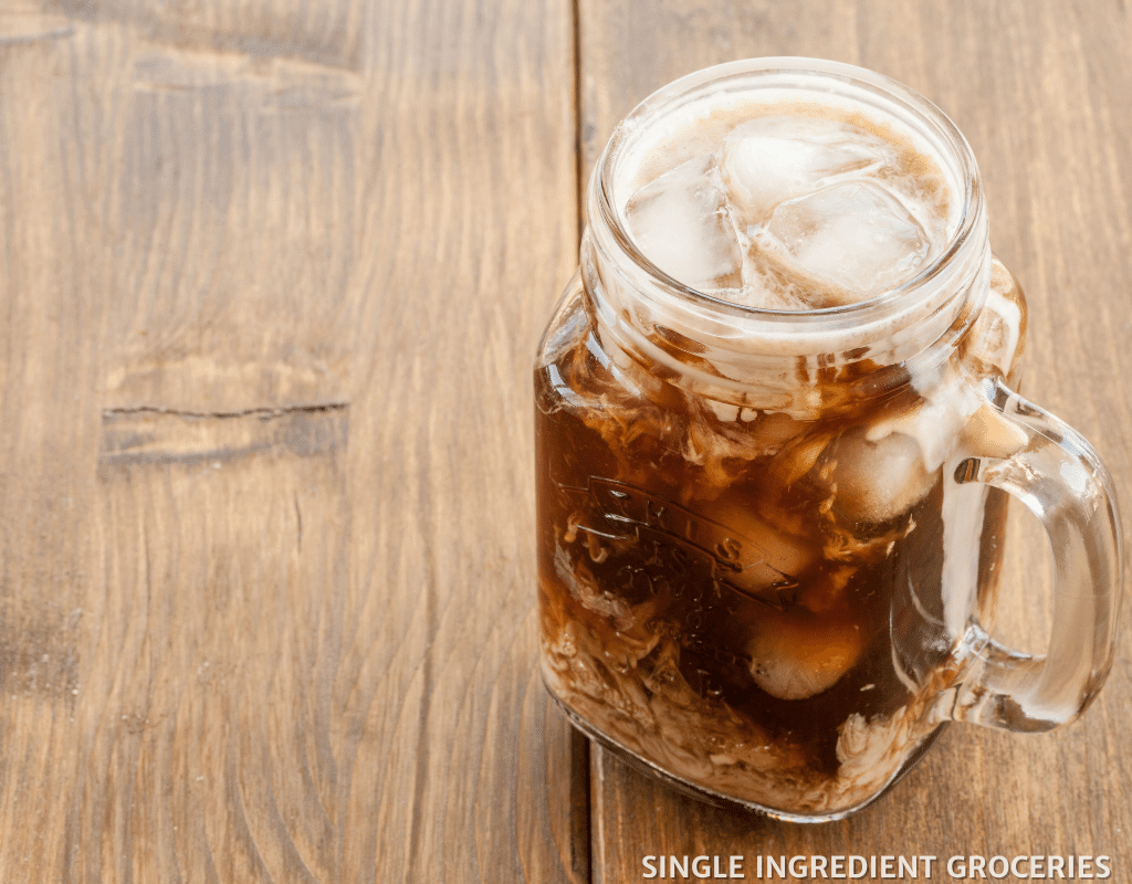 iced type of coffee on table