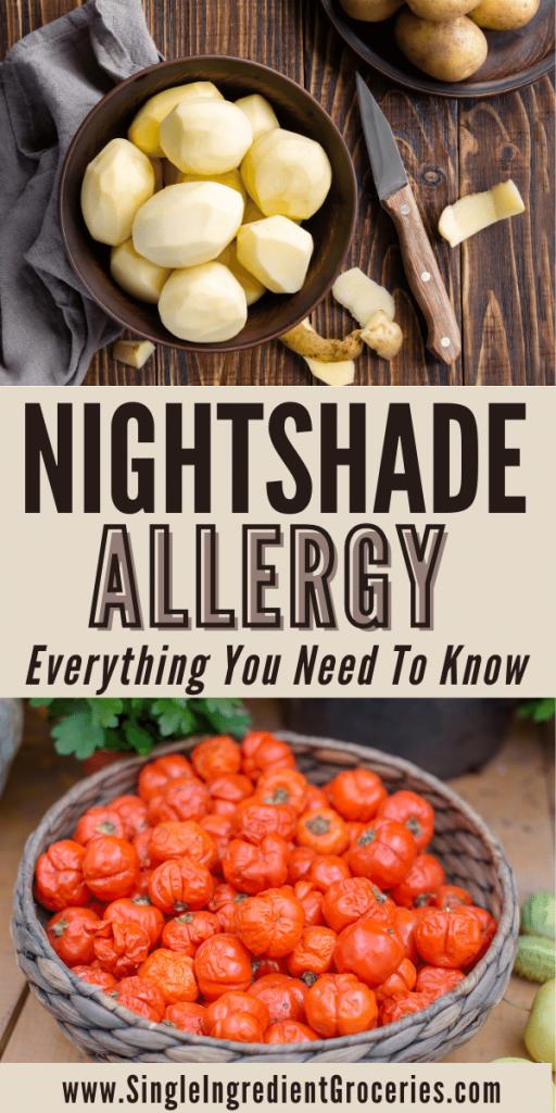 nightshade allergy pin