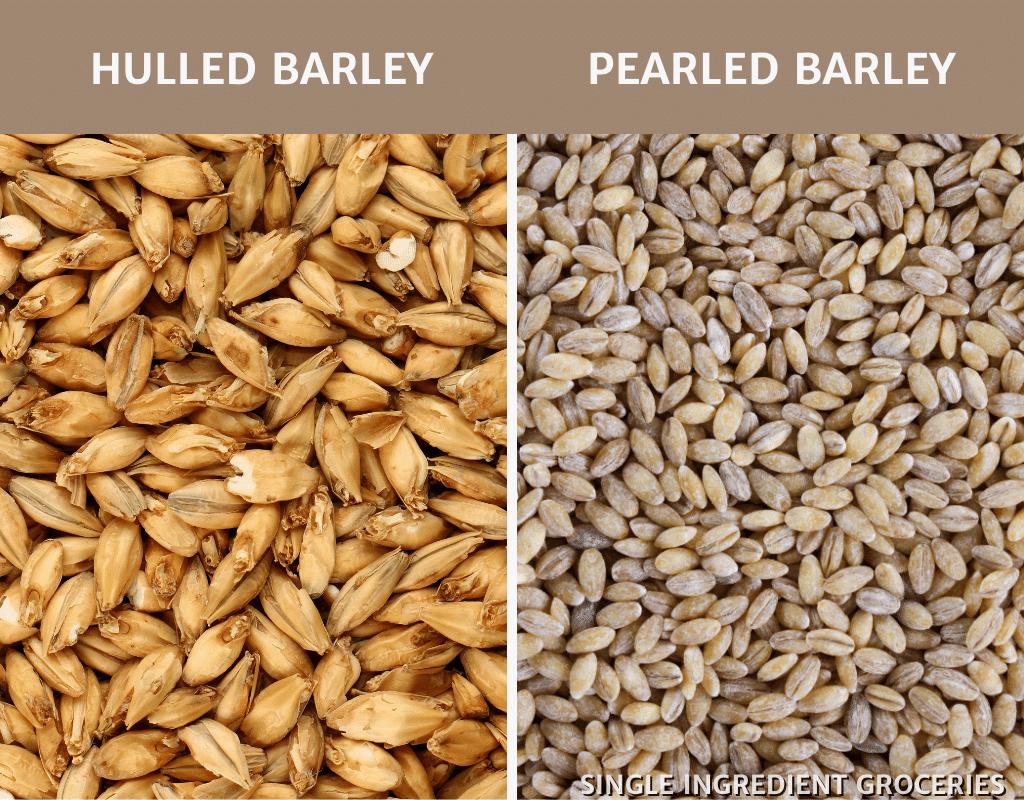 hulled barley and pearled barley