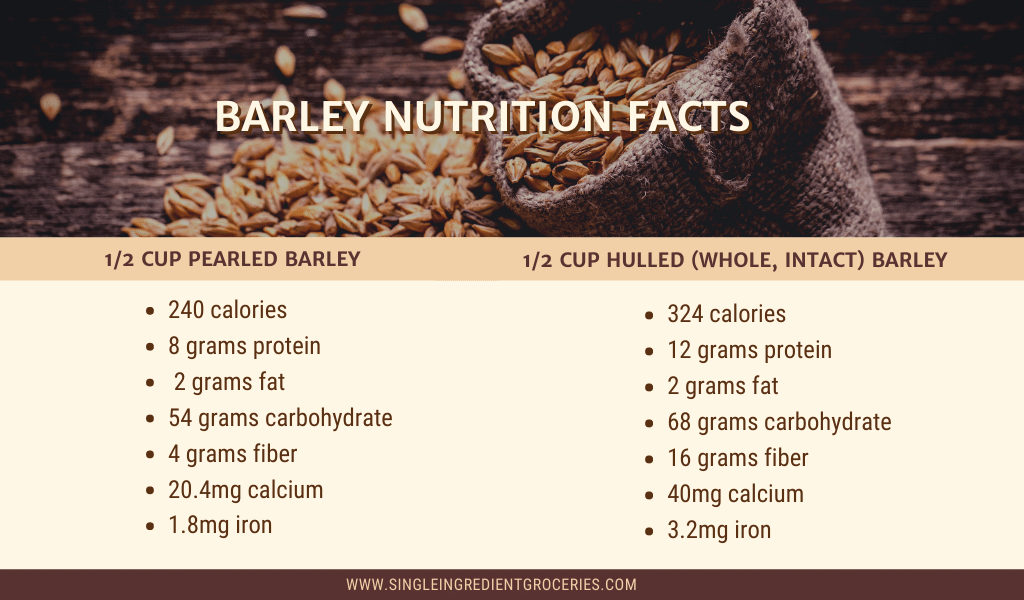 barley nutrition facts