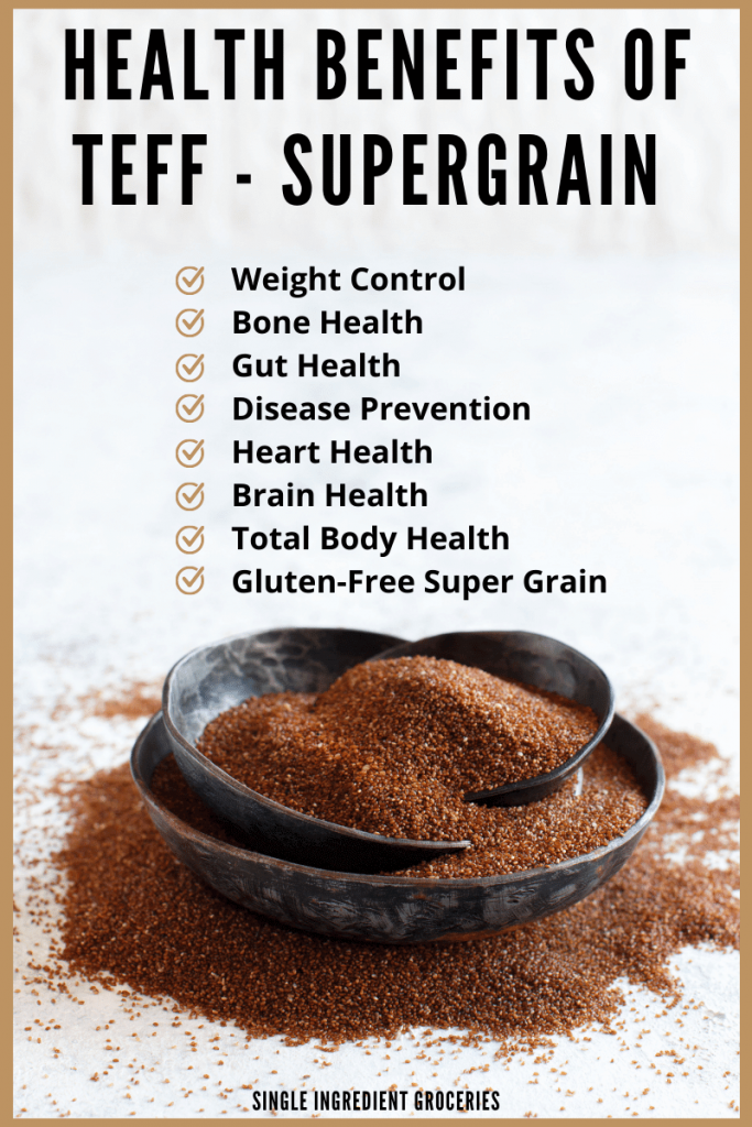 health benefits of teff graphic