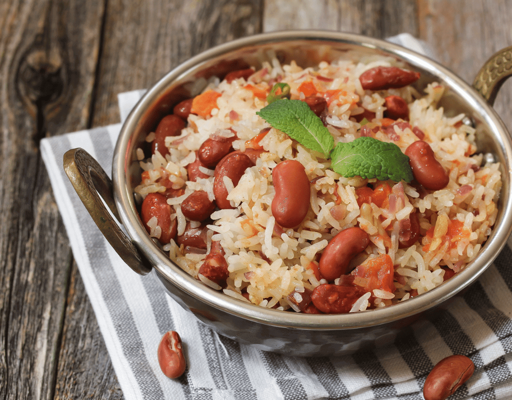 red beans and rice recipe in a bowl