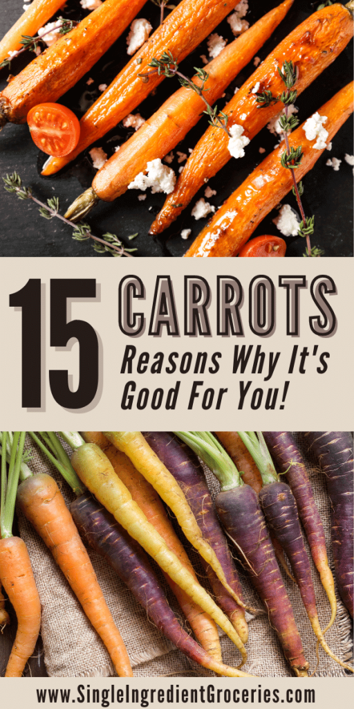 15 Reasons Carrots are good for you Pinterest image