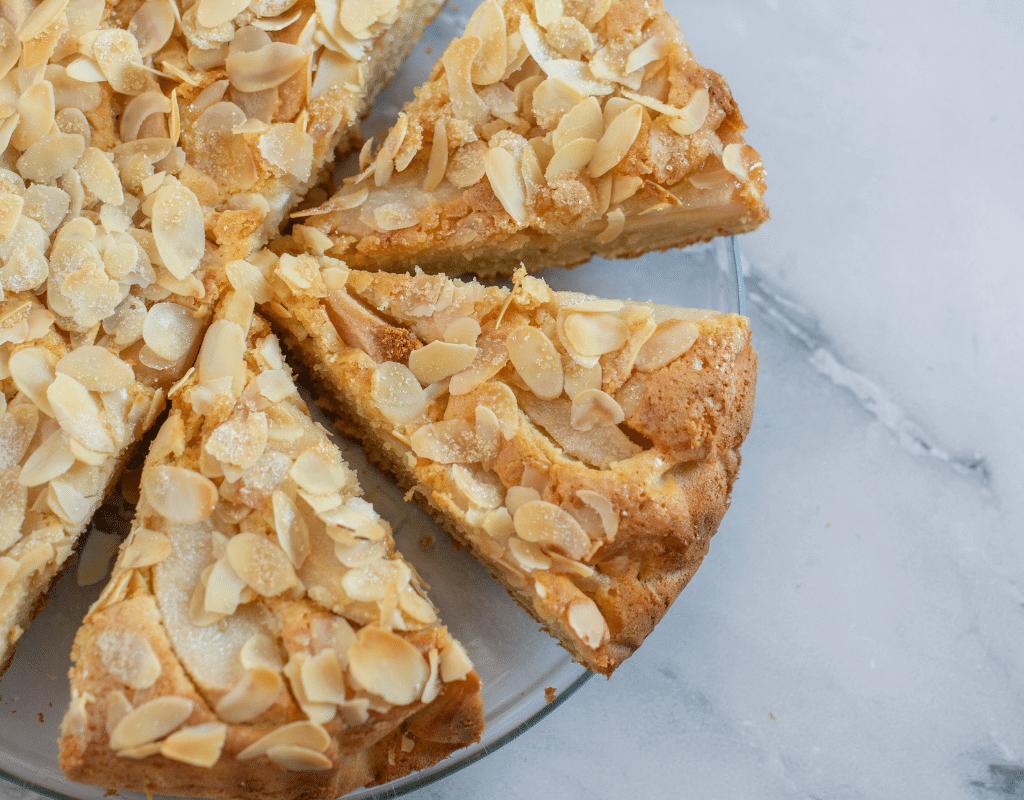 almond allergy image of almond cake sliced