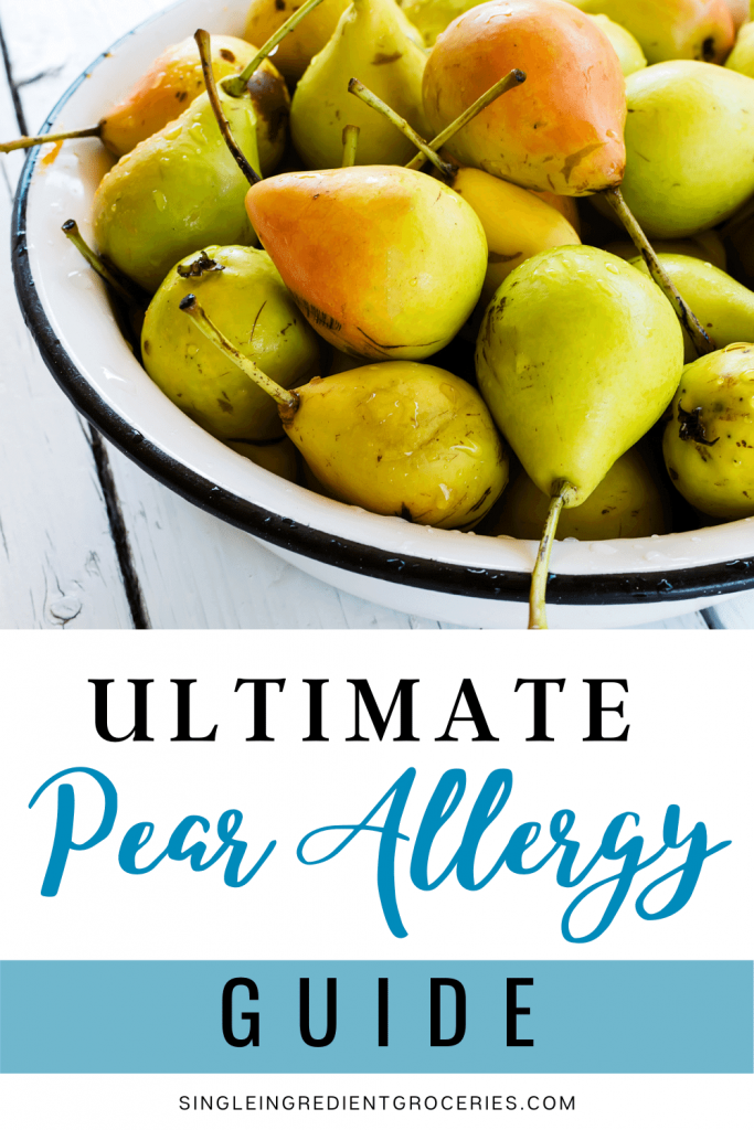 pear allergy pinterest graphic