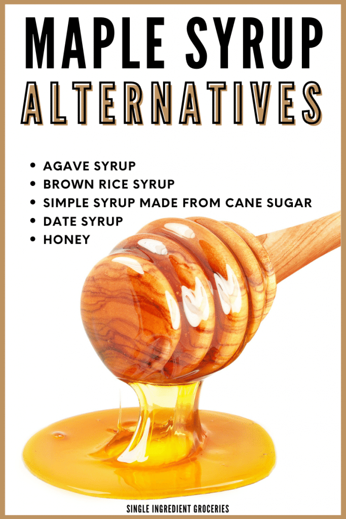 maple syrup alternatives  graphic
