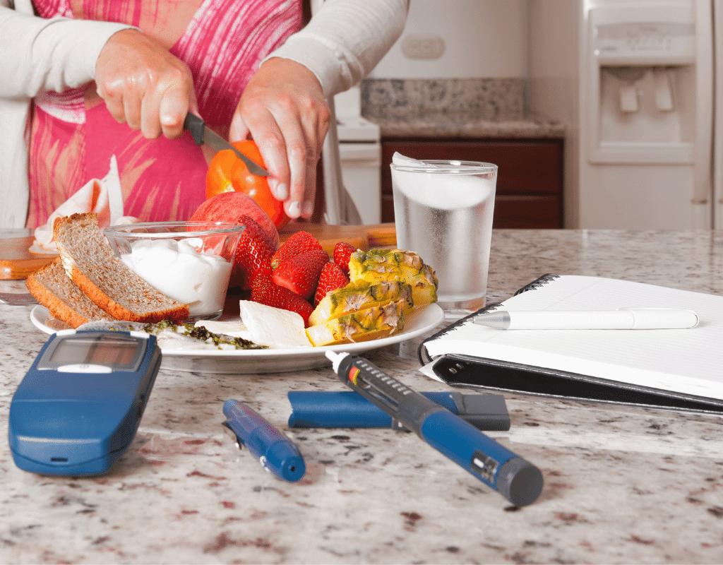 diabetic meal being prepared