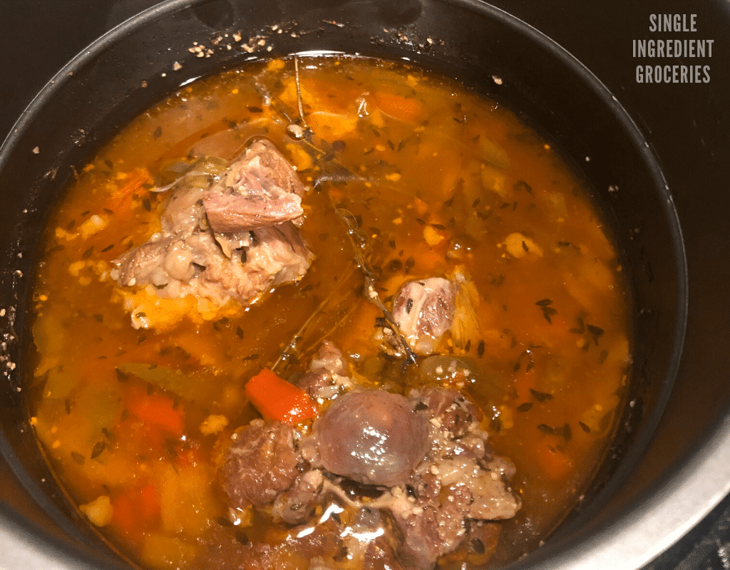 Jamaican oxtail recipe in a pot