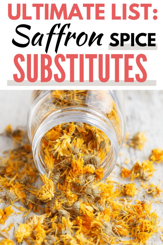 saffron substitute pinterest graphic